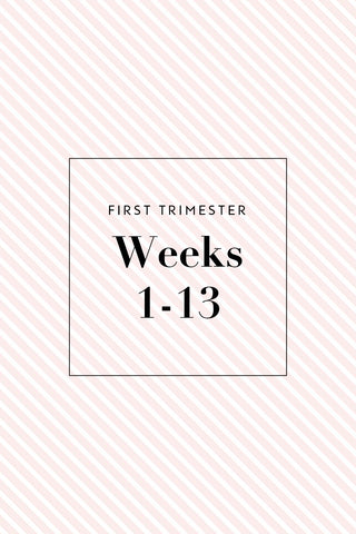 First Trimester Shopping Checklist