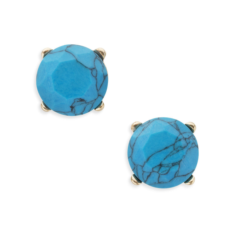 Blue Turquoise Studs