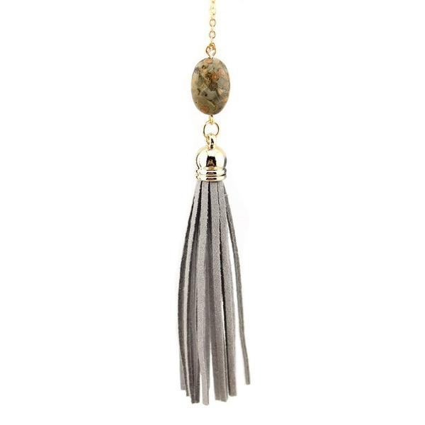 Everyday Stone Tassel in Grey