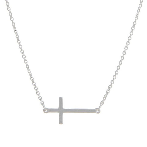 Cross Necklace in Silver