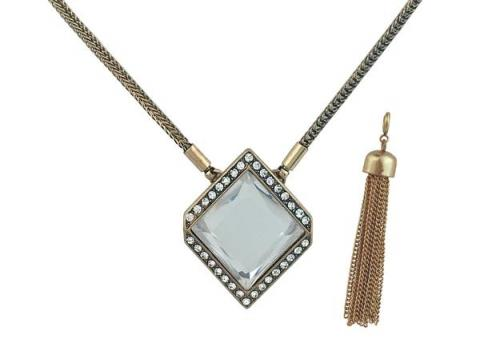 Courtright Convertible Pendant in Clear