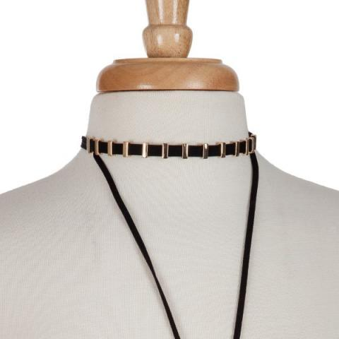 Layered Y Choker in Gold