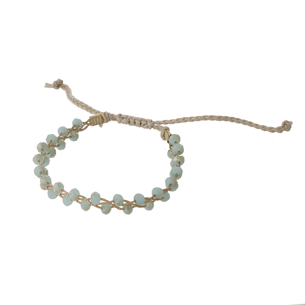 Heather Beaded Bracelet in Mint