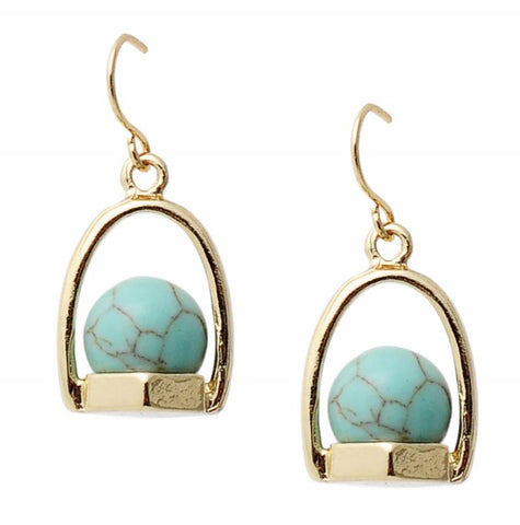 Audrey Earrings in Turquoise