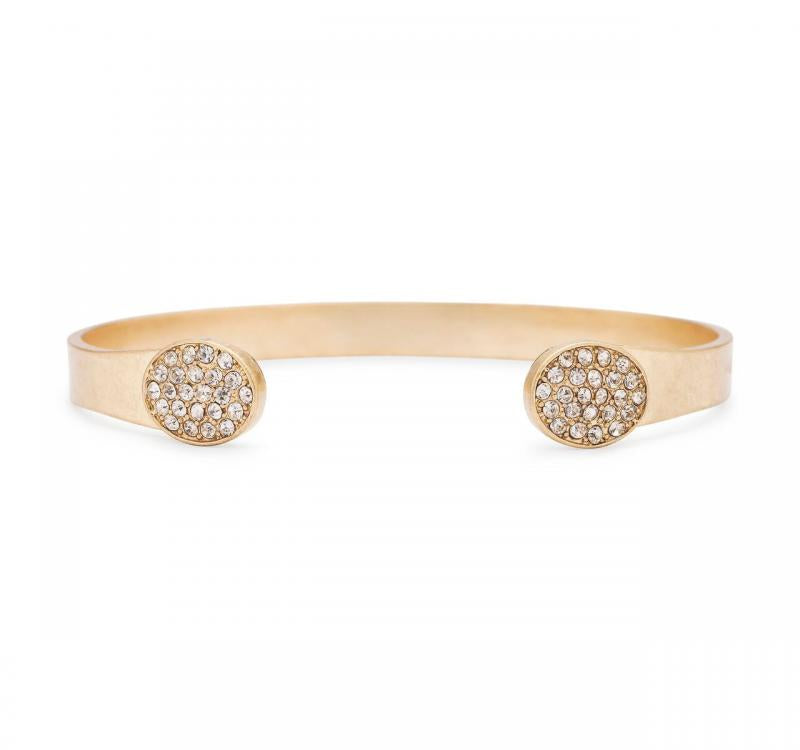 Oval Pavè Cuff in Clear