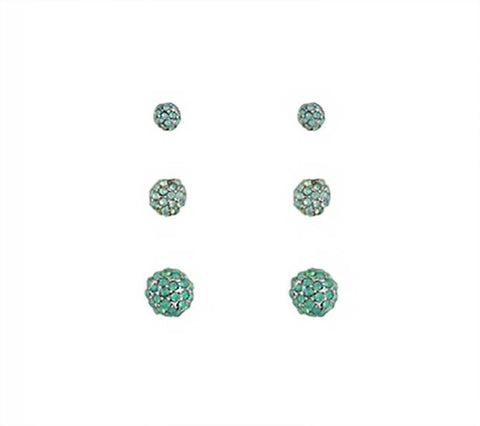 3 Pack - Pavè Earring Trio
