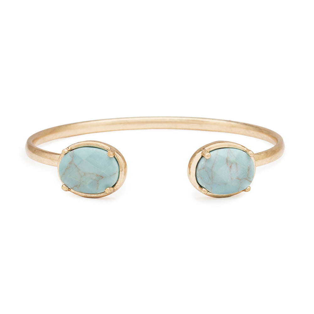 3 Pack - Oval Stone Bracelet in Turquoise
