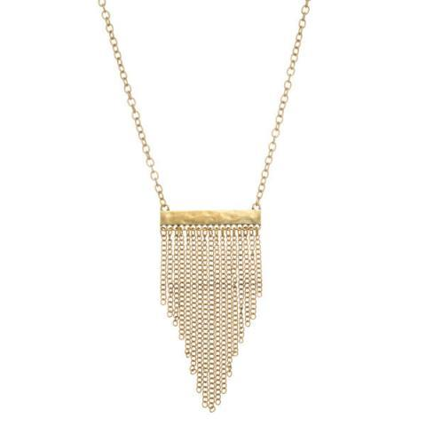 3 Pack - Bar Tassel Necklace-Gold
