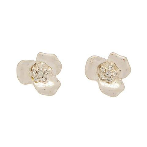 Tiny Flower Studs in Silver