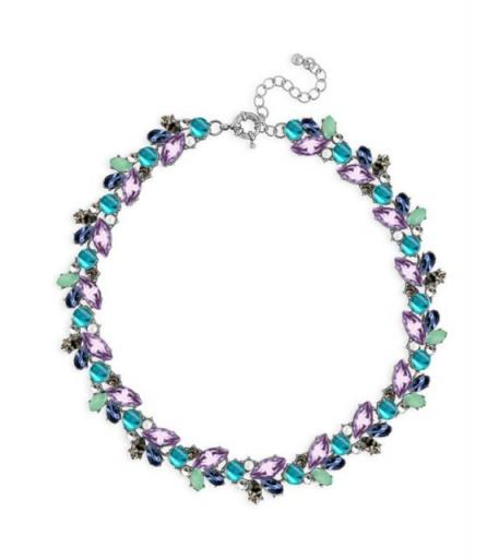 Simple Beauty Necklace in Teal & Purple
