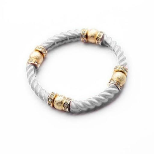 3 Pack - Ceramic Rope Bracelet in White