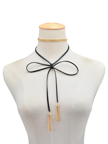 Chain Everyday Wrap Choker in Gold