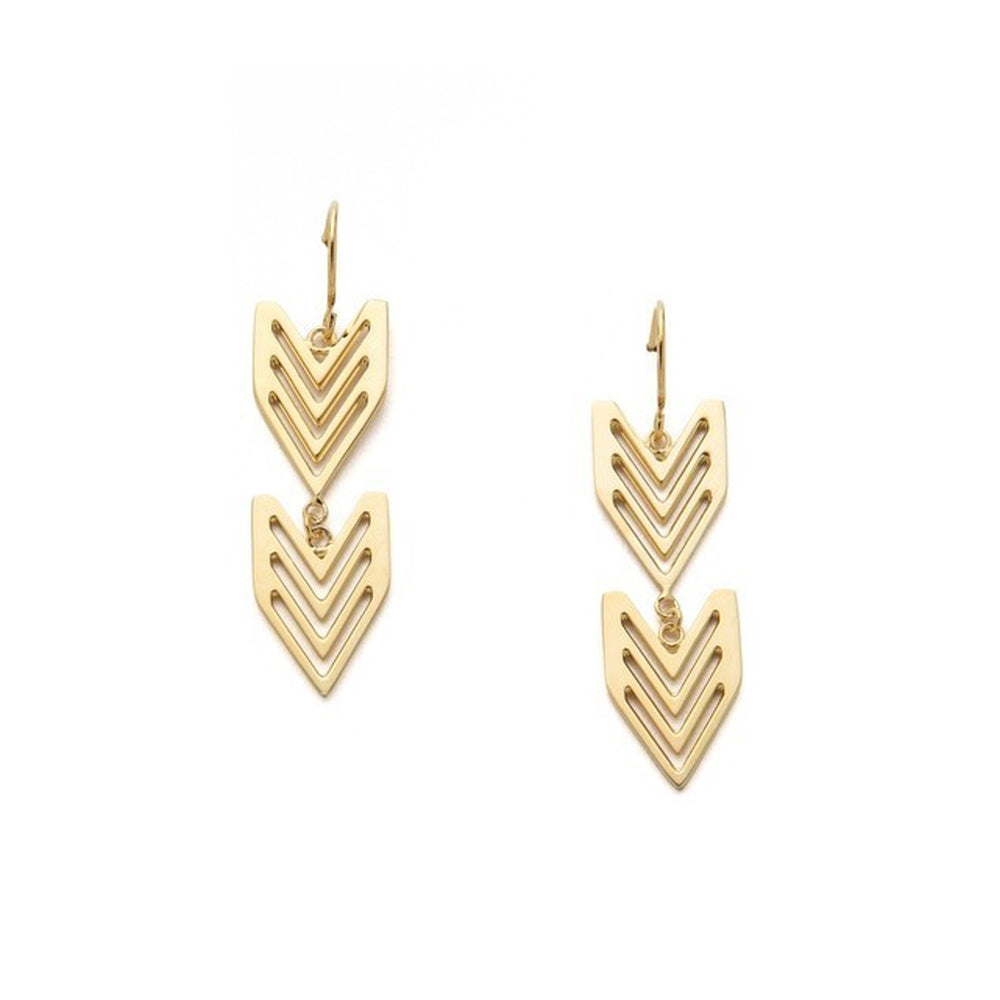 Arrow Earrings in Gold