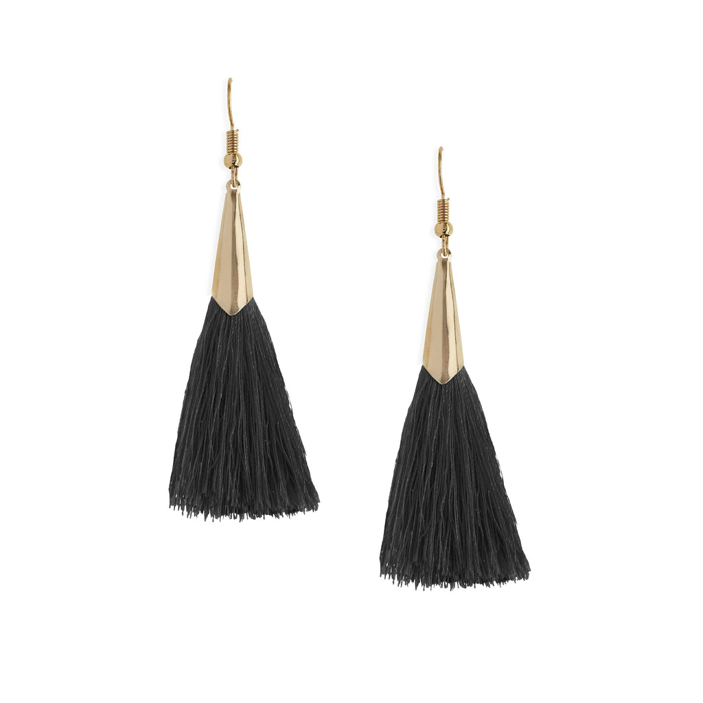 Marina Tassel Earrings in Black