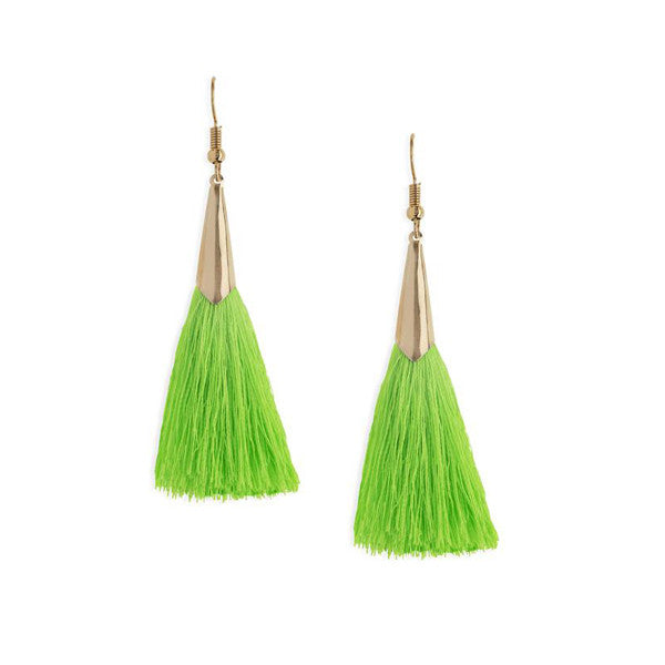 Marina Tassel Earrings in Green