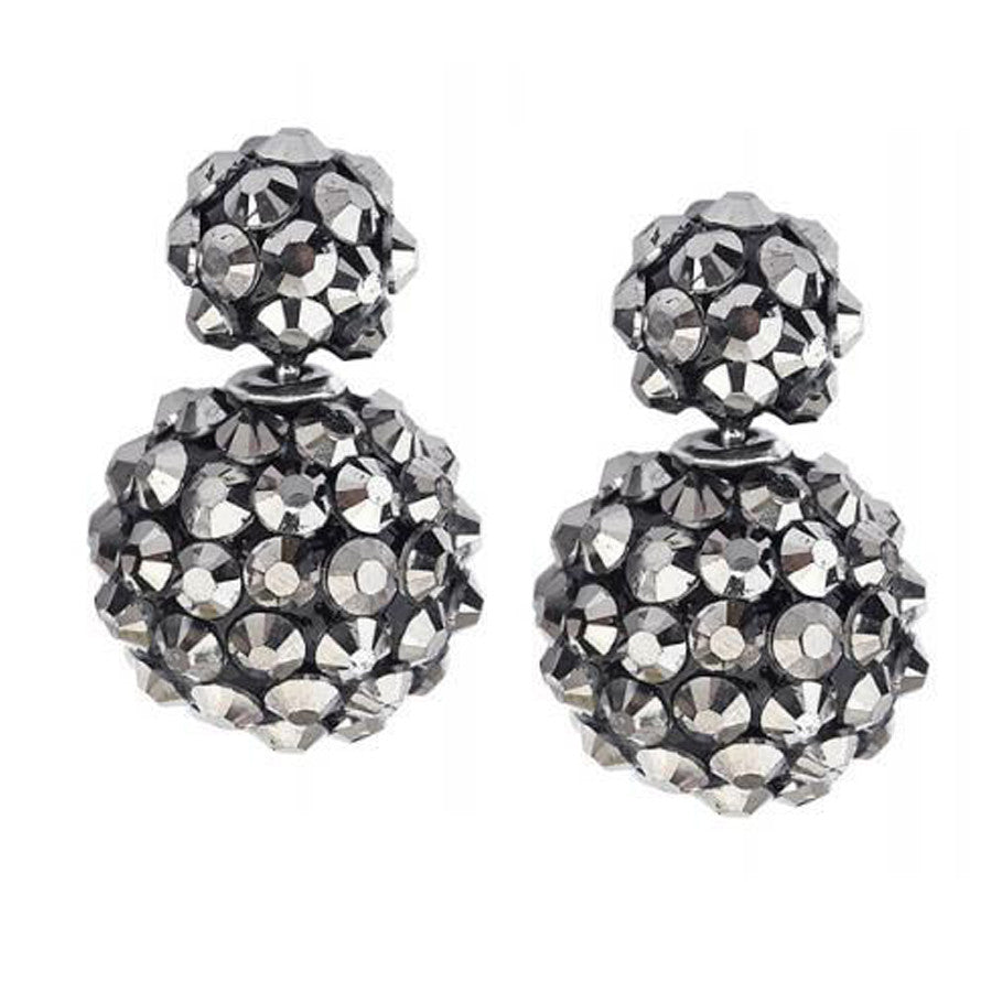Rivet Double Sided Studs in Silver
