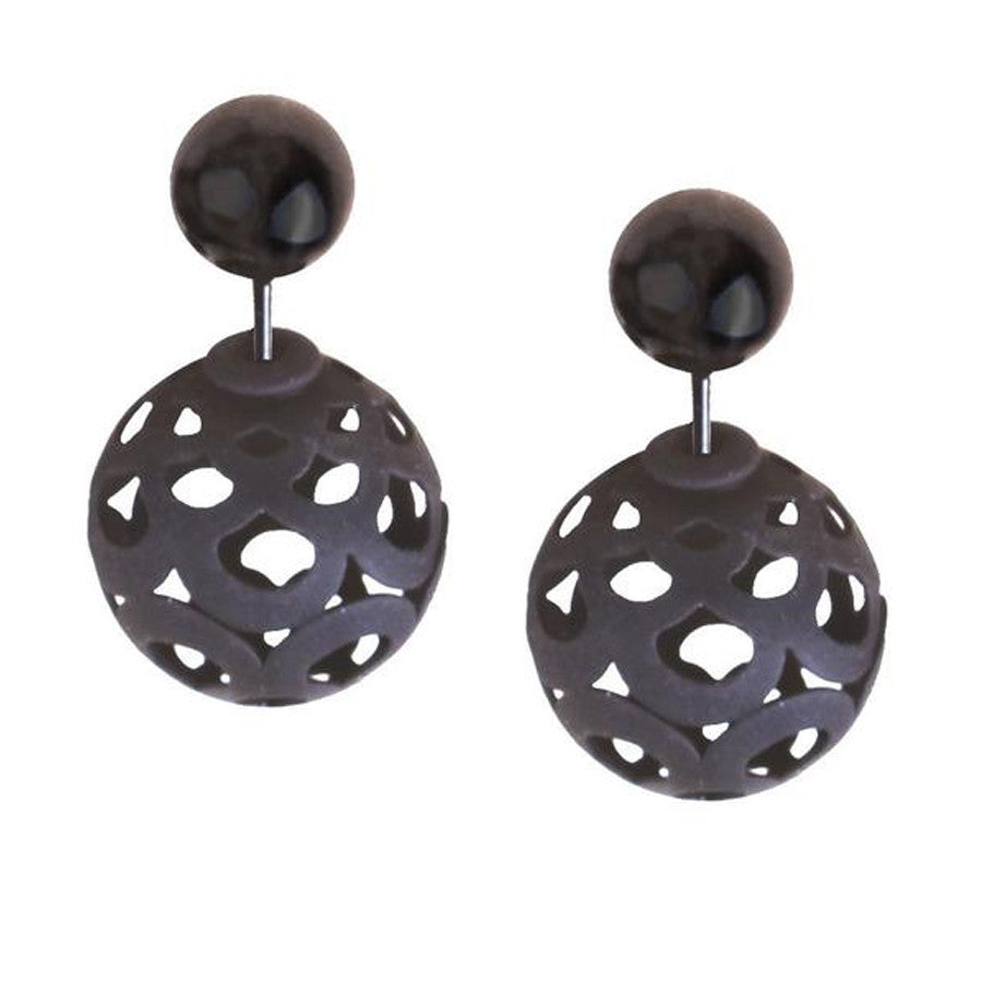 Black Metal Cut-Out Double Sided Studs