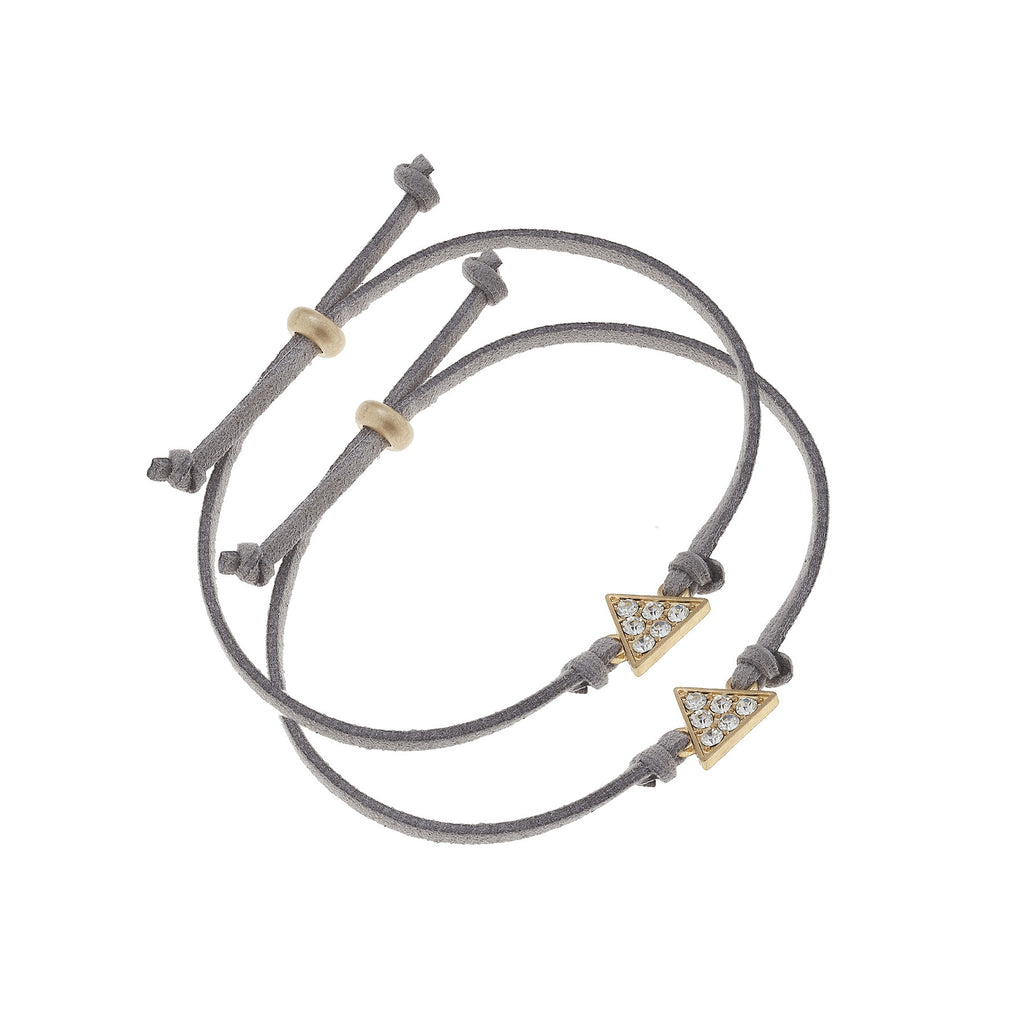 Triangle Bracelet Pair