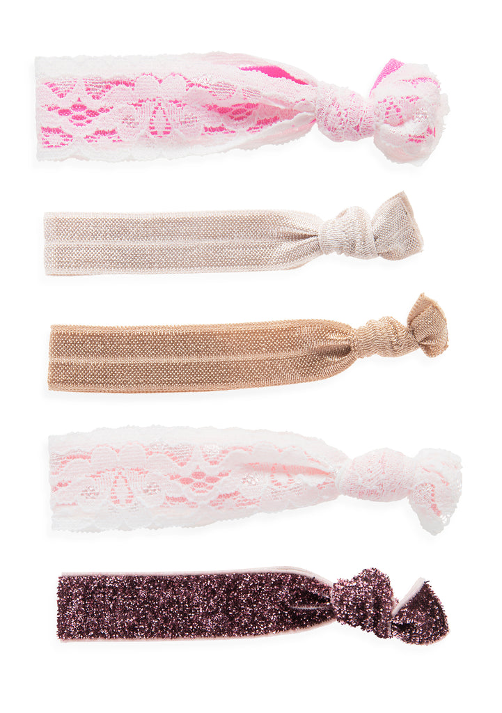 Hair Tie Set in Pink