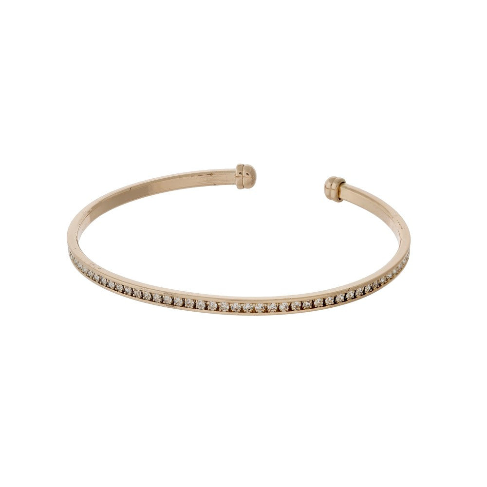 Hairline Pavé Cuff