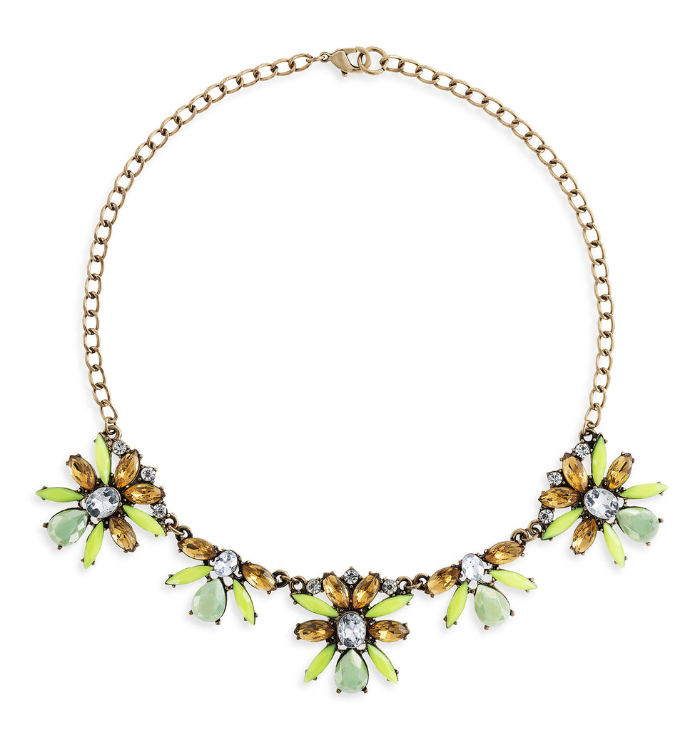Amber Necklace in Green