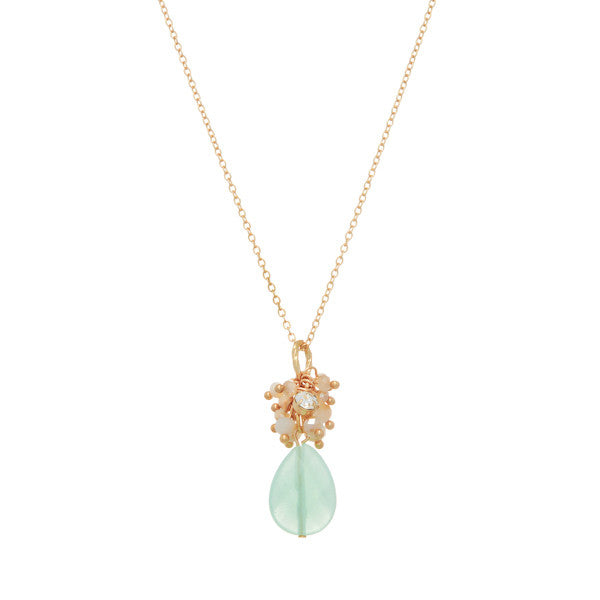 Mint Chalcedony Cluster Necklace