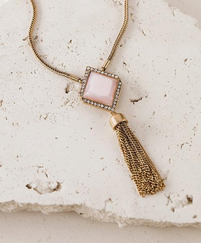 Courtright Convertible Pendant in Pink + Gift Box