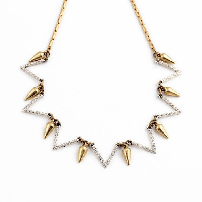 Zig-Zag Duo Tone Necklace