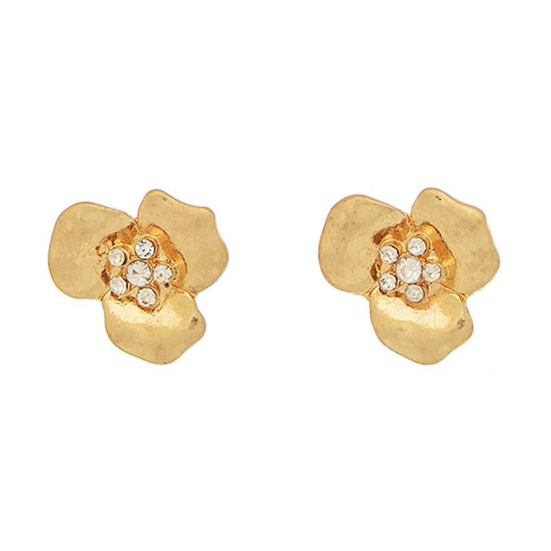 Tiny Flower Studs in Gold
