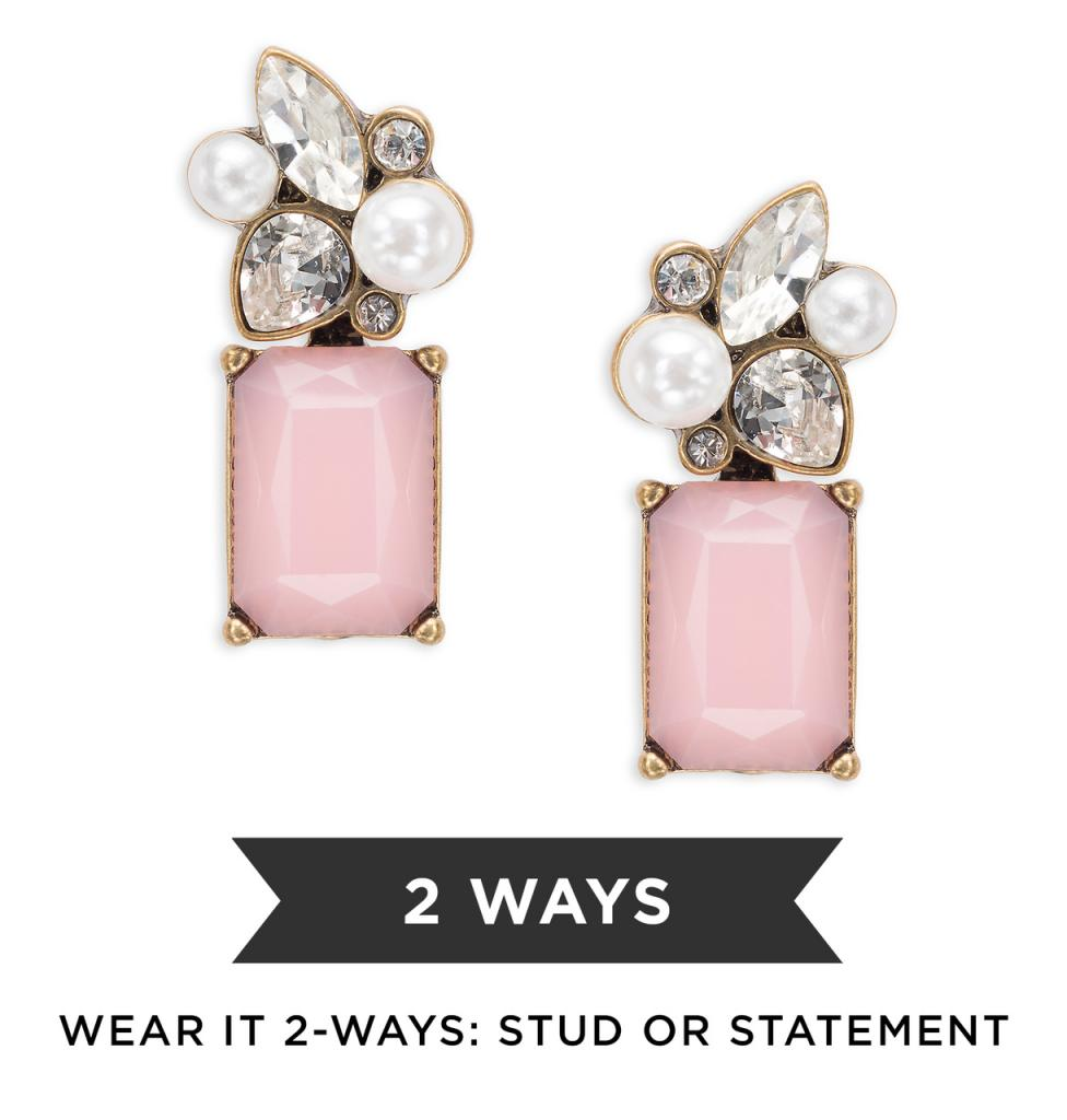 Chloe Convertible Earrings in Pink