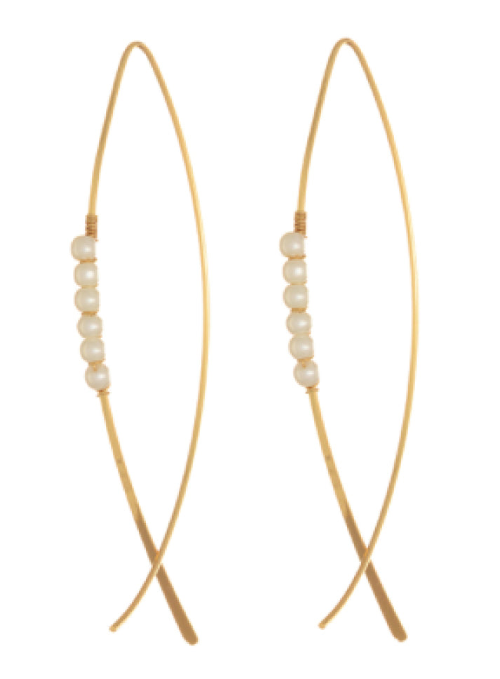 Vesper Earrings in Pearl