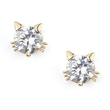 Cat Studs in Gold
