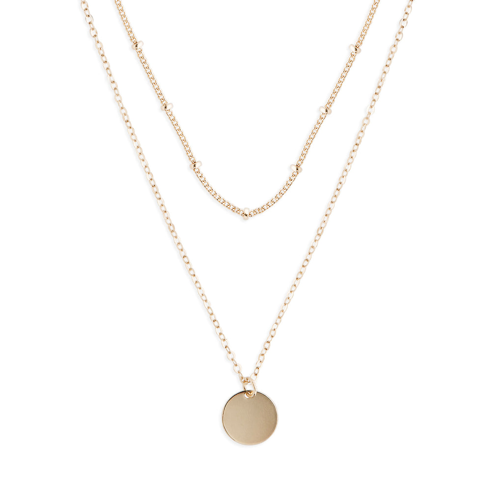 Gold Dot Duo Necklace + Gift Box