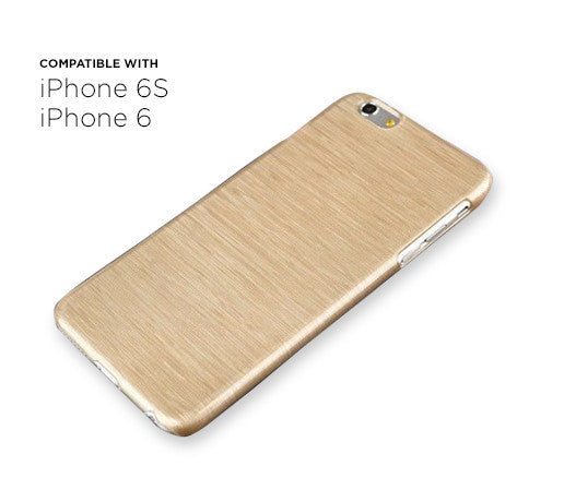 6 Pack - iPhone 6s/6 Thin Brushed Case in Gold