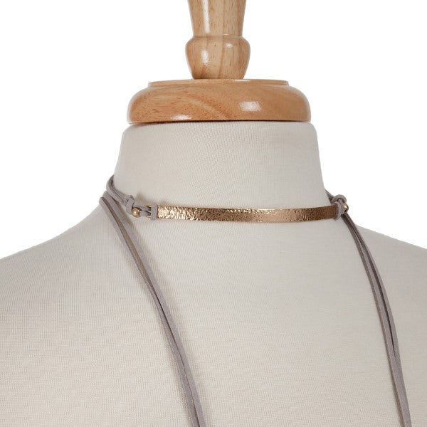 "70"" Leather Wrap Choker"