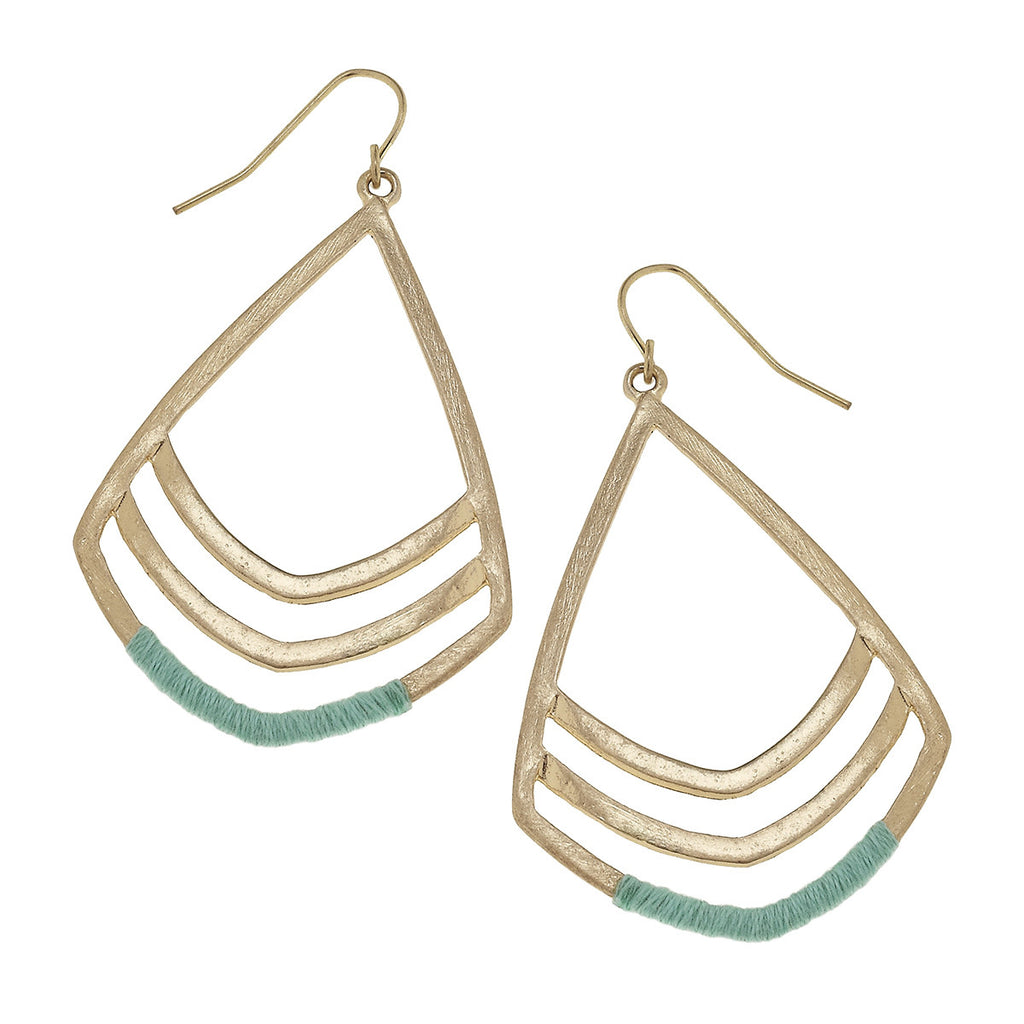 Teal Wrapped Earrings