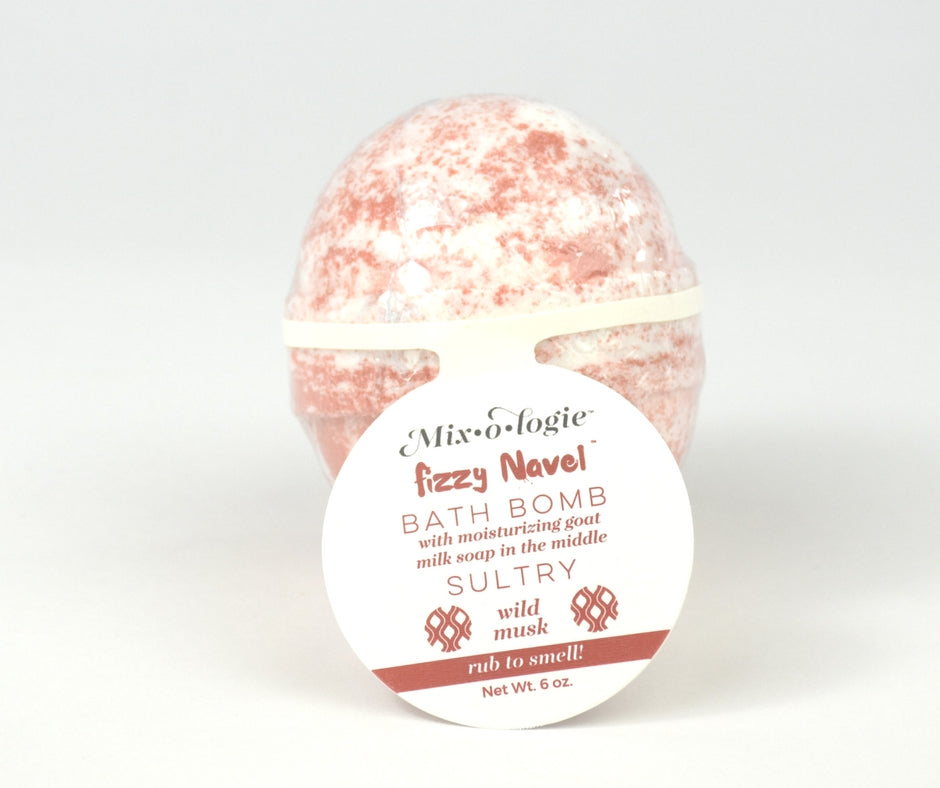 Sultry Fizzy Navel Bath Bomb (wild musk)