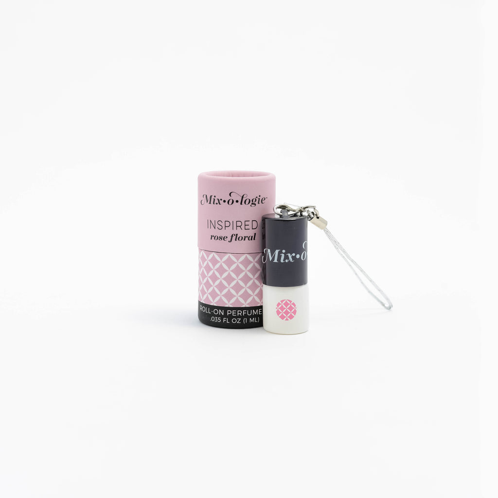 Inspired (rose floral) - Mini Perfume Rollerball Keychain (1 mL)
