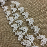 "Butterflies Trim Lace Use by the Yard or Cut individually, 3/4"" Wide, Choose Color, Multi-Use ex. Garments Veils Crafts Scrapbooks Costumes"