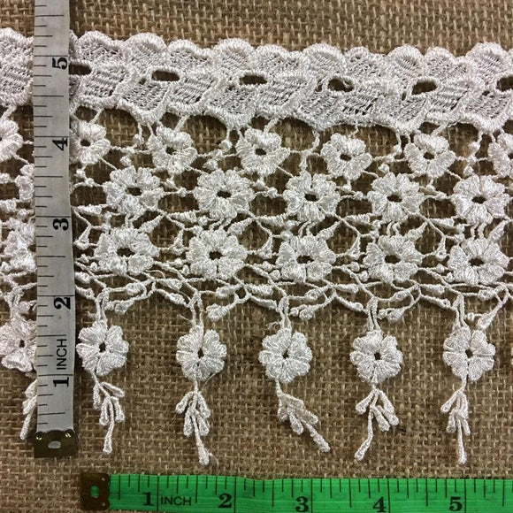 Trim Lace Fringe Daisy Dance Design Venise by the Yard, 5.25