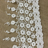 "Trim Lace Fringe Daisy Dance Design Venise by the Yard, 5.25"" Wide. Ivory. Multi-use ie Garments Bridals Slip Extender Veils Costumes Crafts"