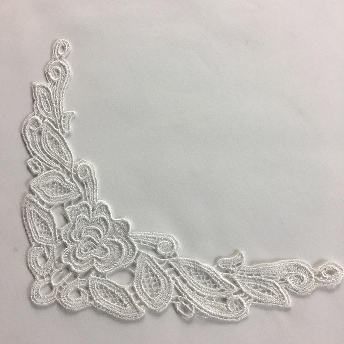 "Lace Applique Piece Rose Motif Embroidery Venise Patch Neckpiece, 5""x8"", Choose Color.Multi-use ex. Garments DIY Sewing Tops Costumes"