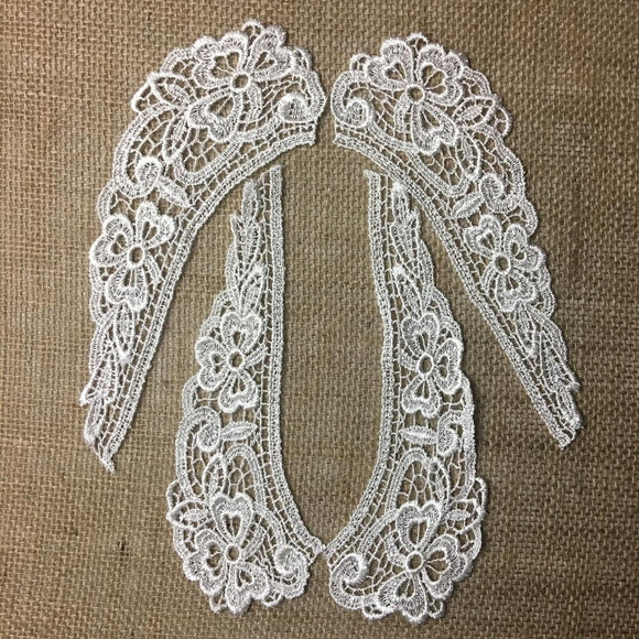 Lace,Collar,Pair,Venise,Judges,Lace,Collar,Pretty,Floral,Design,Embroidered,Guipure,Chemical,Venise,Venice,Collar,Yoke,Lace,Bridal,Decorations,Invitations,Arts and Crafts,Scrapbook,Casket,Coffin Ribbon,Victorian,Traditional,DIY Clothing,DIY Sewing,Proms,Bridesmaids,Encaje,A0147N8