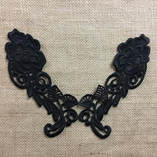 Lace,Applique,Pair,Quality,Venise,Flower,Design,Embroidered,Guipure,Chemical,Venice,Collar,Yoke,Lace,Bridal,Decorations,Invitations,Arts and Crafts,Scrapbook,Casket,Coffin,Ribbon,Victorian,Traditional,DIY Clothing,DIY Sewing,Proms,Bridesmaids,Encaje,A0183