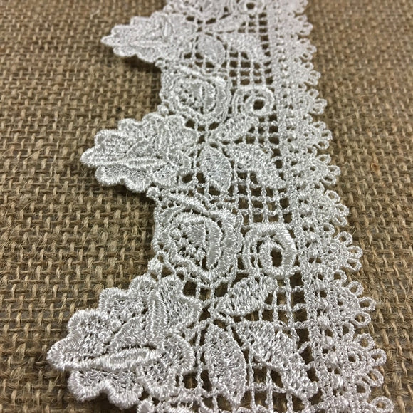 Lace,Applique,Pair,Beautiful,Venise,Flower,Design,Embroidered,Guipure,Chemical,Venice,Collar,Yoke,Lace,Bridal,Decorations,Invitations,Arts and Crafts,Scrapbook,Casket,Coffin,Ribbon,Victorian,Traditional,DIY Clothing,DIY Sewing,Proms,Bridesmaids,Encaje,A0185N4
