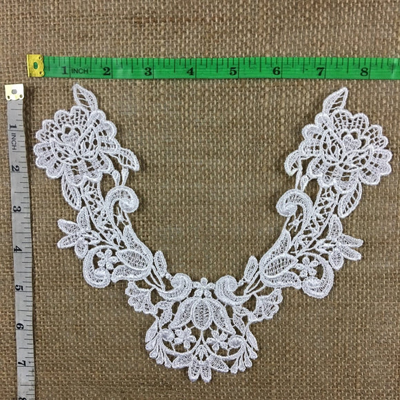 Applique,Lace,Piece,Embroidery,Venise,Yoke,Neckpiece,Guipure,Chemical,Venice,Applique,Collar,Yoke,Lace,Bridal,Decorations,Invitations,Arts and Crafts,Scrapbook,Casket,Coffin,Ribbon,Victorian,Traditional,DIY Clothing,DIY Sewing,Proms,Bridesmaids,Encaje,A0216N4