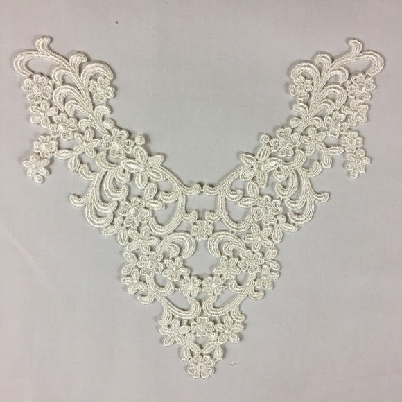 Applique Lace Piece Embroidery Venise Abundance Yoke Neckpiece, 9
