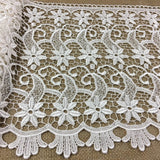 "Trim Lace Venise by the Yard, Starfish, 13"" Wide, Ivory, Multi-use Garments Tops Bridals Slip Extender Table Runner DIY Sewing Costumes Dance Theater"