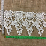 "Trim Lace Daisy Floral Venise by the Yard, 4.50"" Wide, Choose Color. Multi-Use Garment Veil Slip Extender Bridal Crafts Dance Theater Costumes DIY Sewing Decoration"