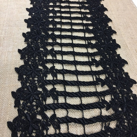 Trim Lace Venise by the Yard Floral Gate, 10